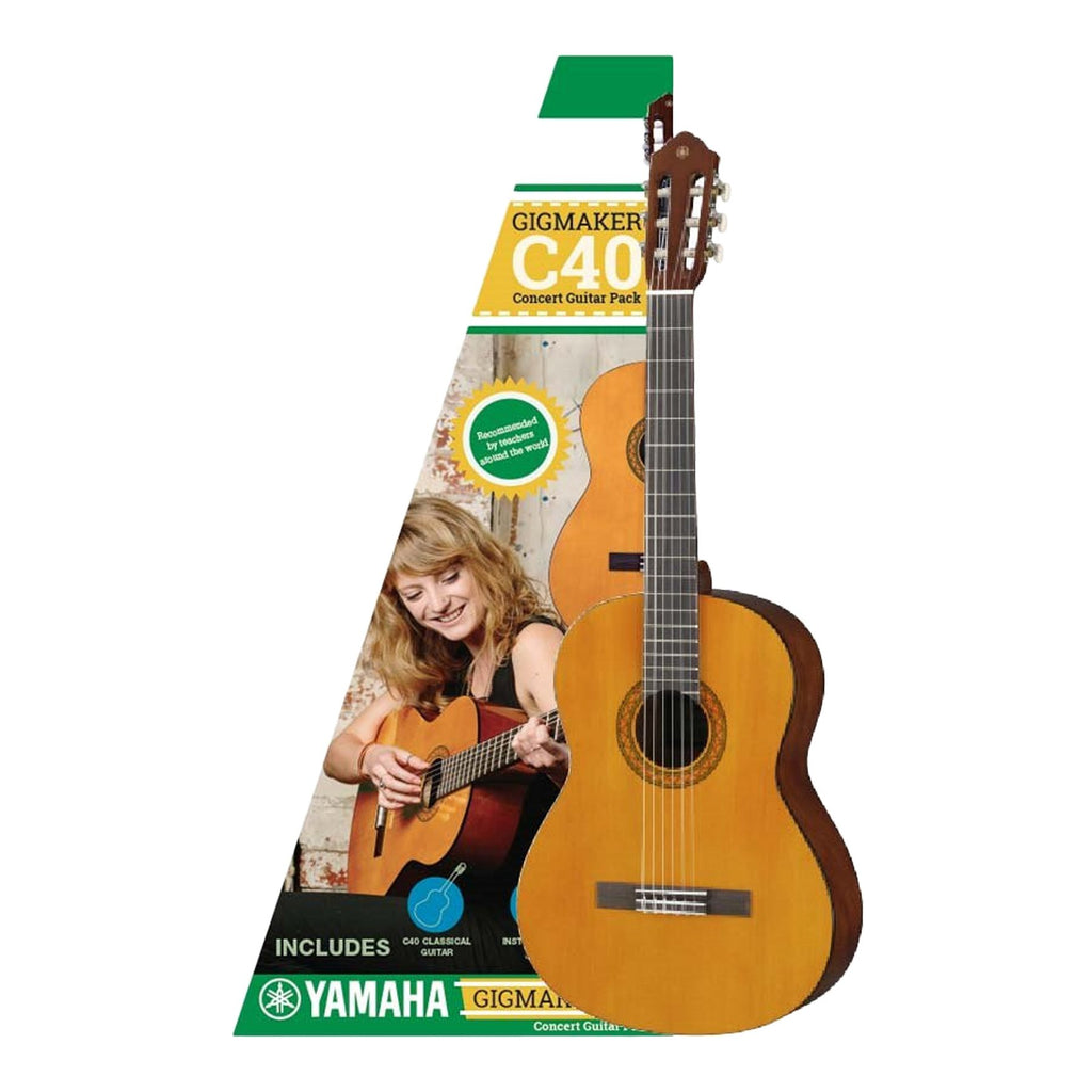 GIGMAKERC40-Yamaha Gigmaker C40 Full Size Beginner Classical Guitar Pack-Living Music