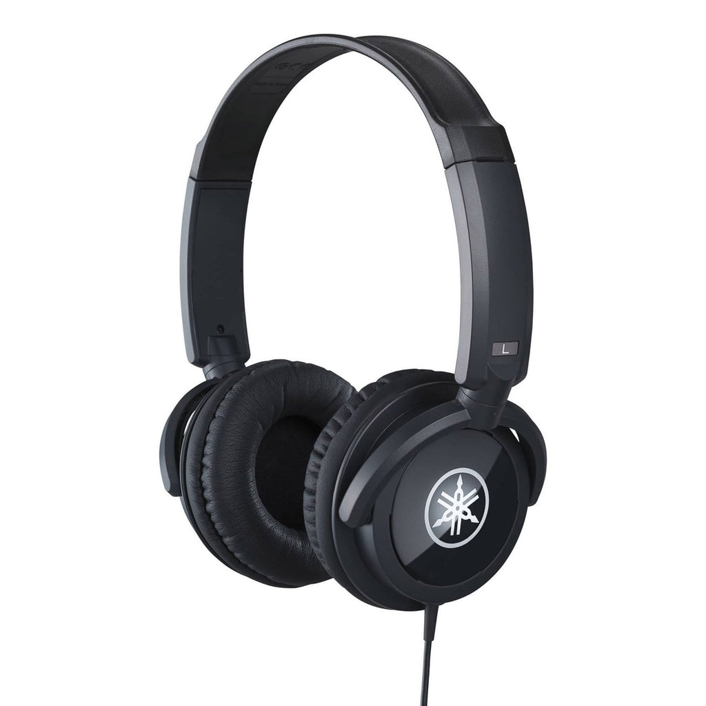 HPH100B-Yamaha HPH-100 Dynamic Closed Back Studio Headphones (Black)-Living Music