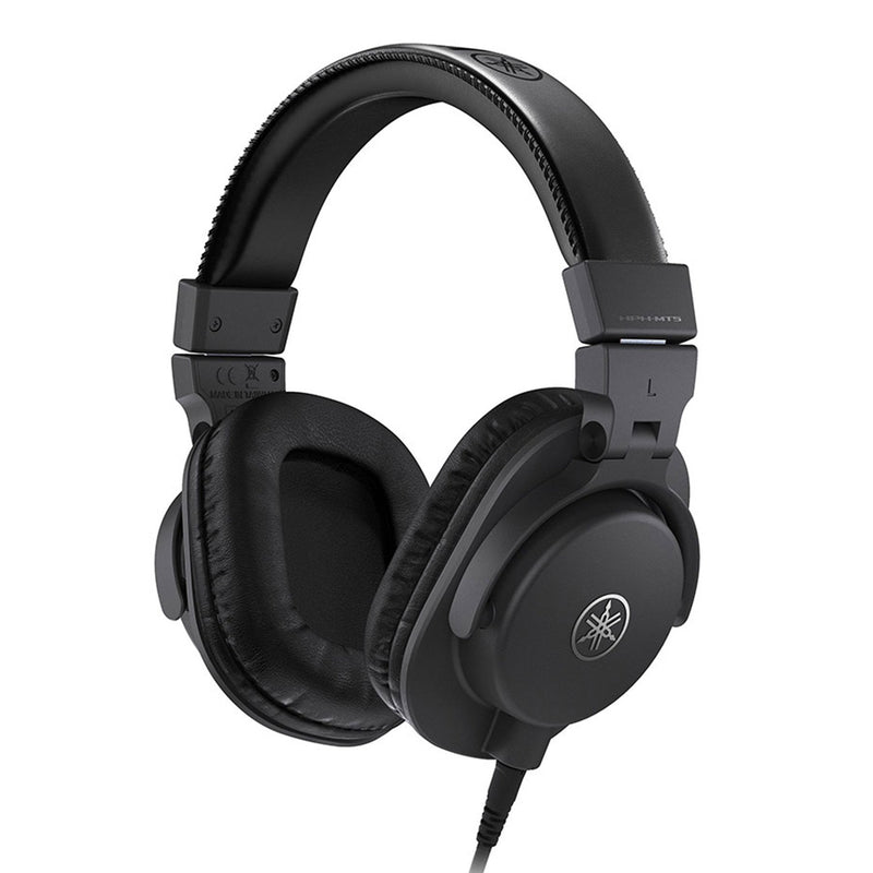 HPH-MT5-Yamaha HPH-MT5 Closed Back Studio Monitor Mixing Headphones (Black)-Living Music