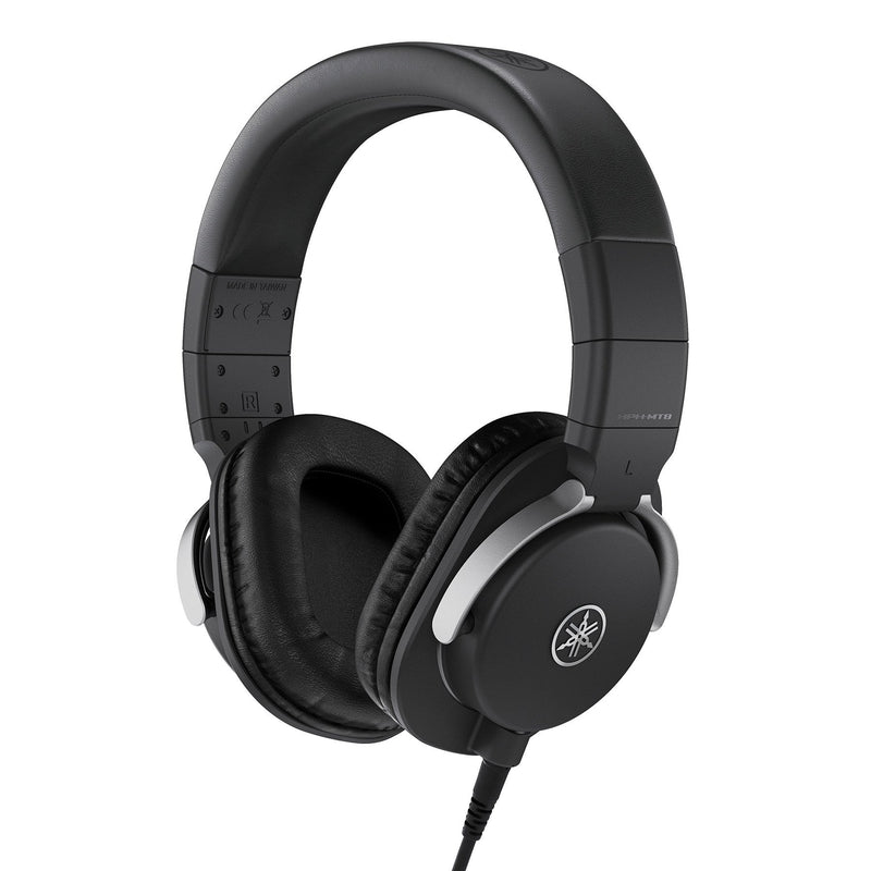 HPH-MT8-Yamaha HPH-MT8 Closed Back Studio Monitor Mixing Headphones (Black)-Living Music