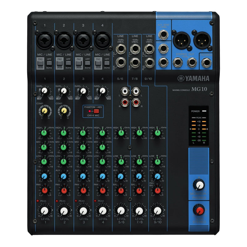 MG10//AU-Yamaha MG10 10 Channel Analogue Mixer-Living Music