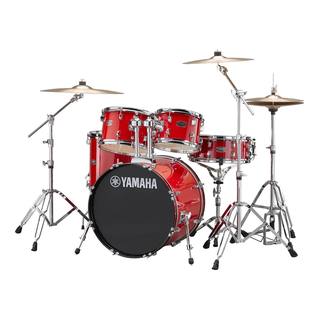 "RYDFUSRD-Yamaha Rydeen 5-Piece Fusion Drum Kit with 20"" Bass Drum (Hot Red)-Living Music"