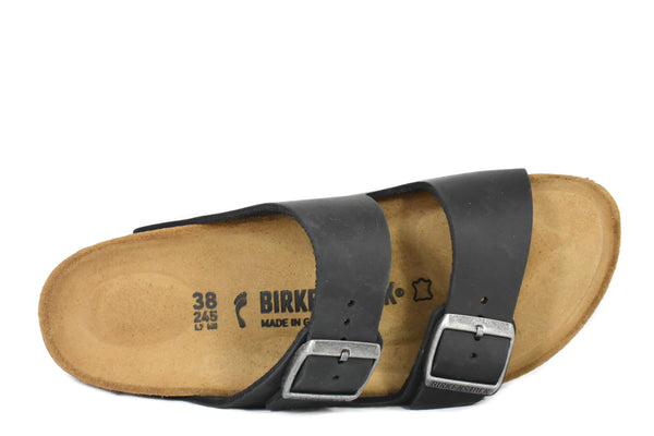 8d2bb4711637e BIRKENSTOCK - ARIZONA - NARROW - OILED LEATHER – Grundy s Shoes