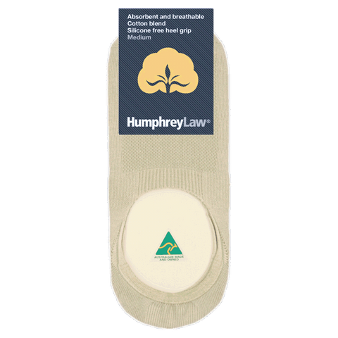 HUMPHREY LAW - 56IN - COTTON INVISIBLE SOCK WITH SILICONE FREE HEEL GRIP
