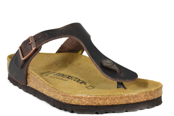 a2bf77055df BIRKENSTOCK - GIZEH - REGULAR - OILED LEATHER – Grundy s Shoes