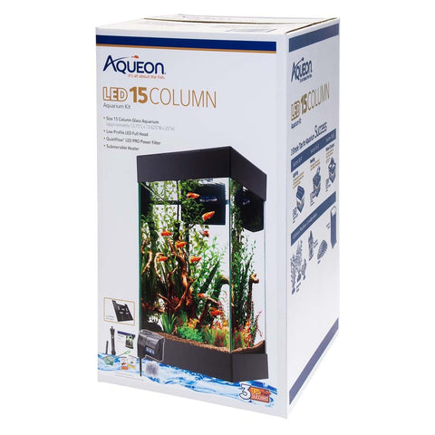 Aqueon LED 15 Column Aquarium Kit 15g - Bay Bridge Aquarium and Pet