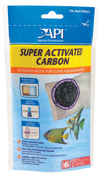 API Super Activated Carbon Pouch - Bay Bridge Aquarium and Pet