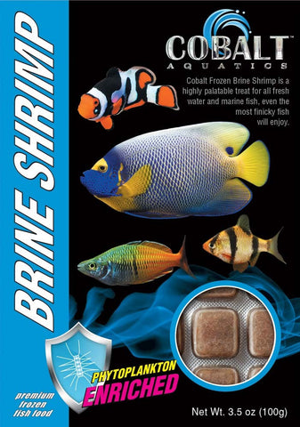 Cobalt Frozen Brine Shrimp Cubes - Bay Bridge Aquarium and Pet