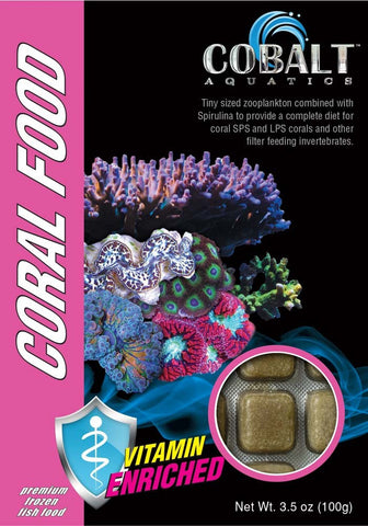 Cobalt Frozen Coral Food Cubes - Bay Bridge Aquarium and Pet