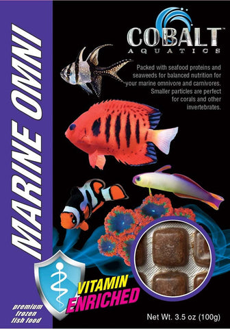 Cobalt Frozen Marine Omni Cubes - Bay Bridge Aquarium and Pet