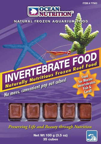 Ocean Nutrition Frozen Invertebrate Food Cubes