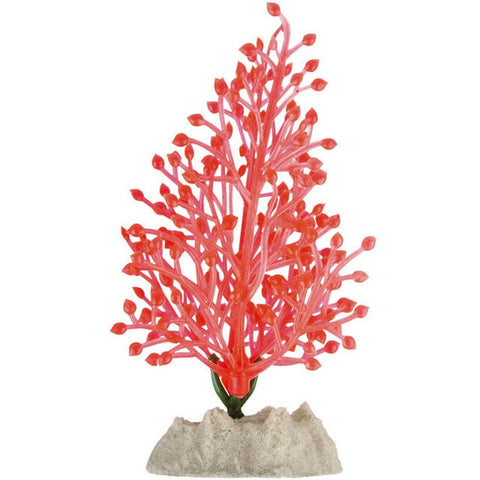 Glofish Fluorescent Orange Plastic Plant
