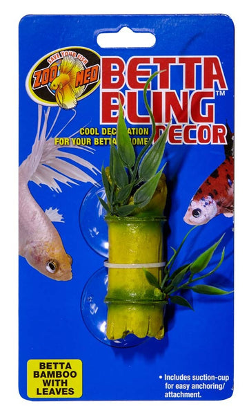 Zoo Med Betta Bling Bamboo With Leaves