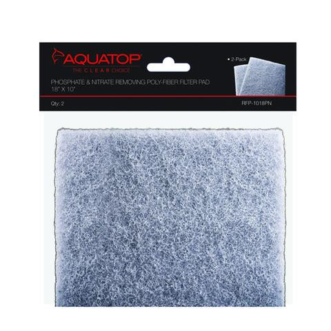 "Aquatop 2-in-1 Phosphate & Nitrate Removing Filter Pads, 18""x10"""