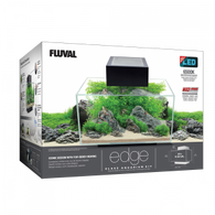 Fluval Edge Aquarium Kit. 6 US Gal. ( 23 L ), Black
