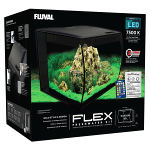 Fluval Flex Aquarium Kit 15 US GALLON