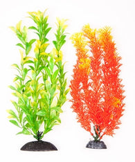 "Aquatop Orange & Green Plants 10"" 2 Pack - Bay Bridge Aquarium and Pet"