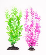 "Aquatop Green & Pink Plants 10"" 2 Pack - Bay Bridge Aquarium and Pet"