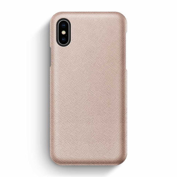 iPhone X/XS / Rose-Gold Saffiano