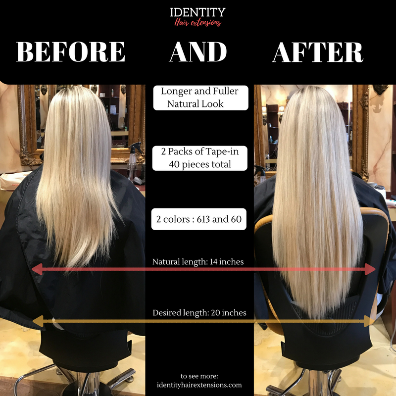 Application for Tape -in  Extensions to perfection.