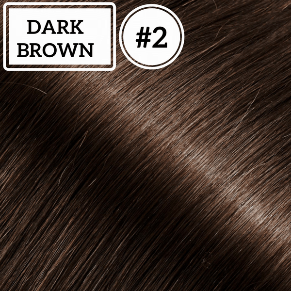Ponytail Hair Extensions  Dark Brown #2 - Identity Hair Extensions