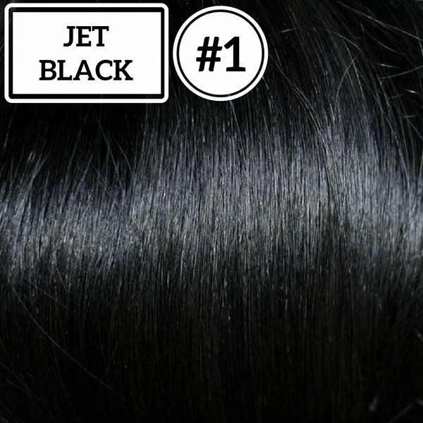 Ponytail Hair Extensions  Jet Black #1- Identity Hair Extensions