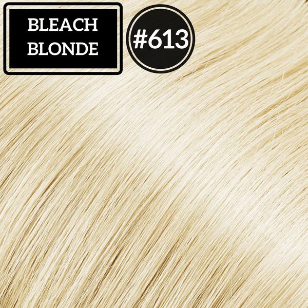Ponytail Hair Extensions  Bleach Blonde #613- Identity Hair Extensions