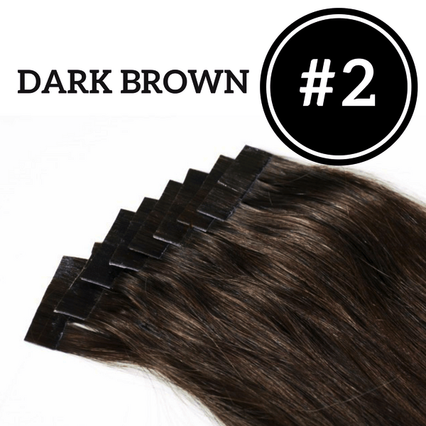 TAPE IN Dark Brown #2 - 20 pieces (50g) - Identity Hair Extensions