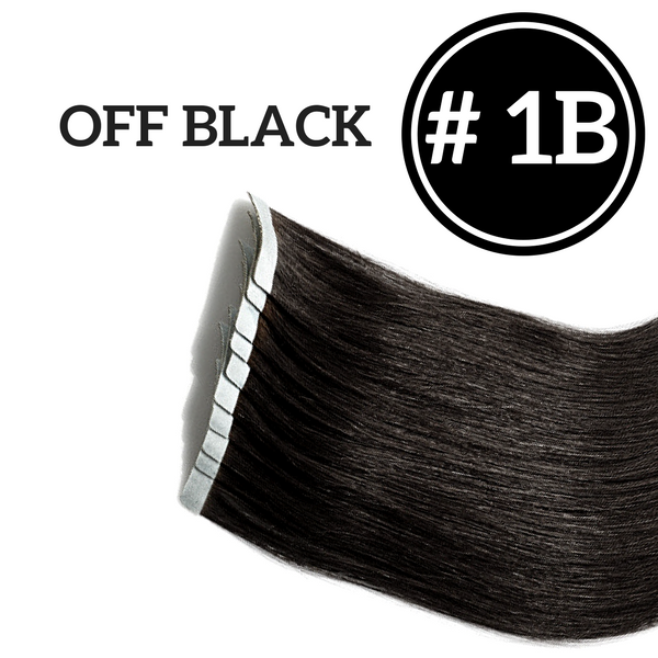 TAPE IN Off Black #1B - 20 pieces (50g) - Identity Hair Extensions