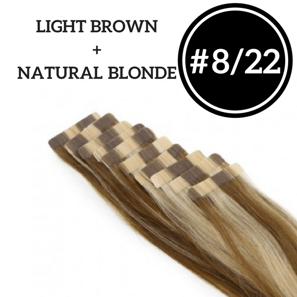Custom Tape In Extensions - 100g  ( 4 Packs ) - Highest Grade 10A | Identity Hair Extensions