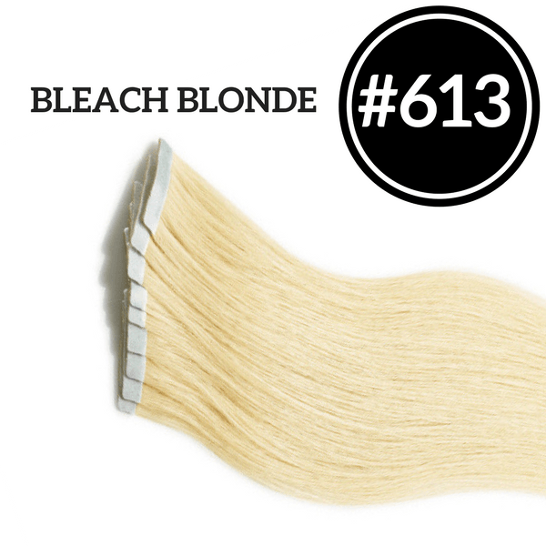 TAPE IN Double Drawn Bleach Blonde #613 - 20 pieces (50g) - Identity Hair Extensions