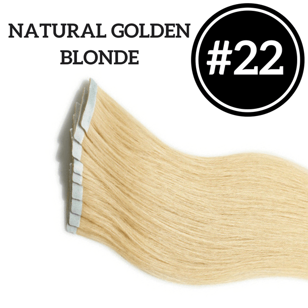 TAPE IN Golden Blonde #22 - 20 pieces (50g) - Identity Hair Extensions