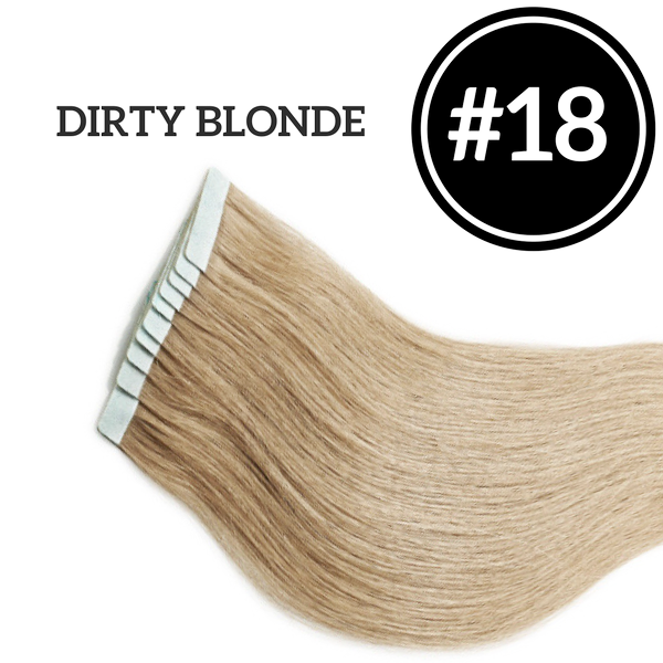 TAPE IN Dirty Blonde #18 - 20 pieces (50g) - Identity Hair Extensions