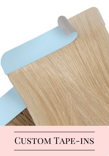 Custom Tape In Order | Identity Hair Extensions