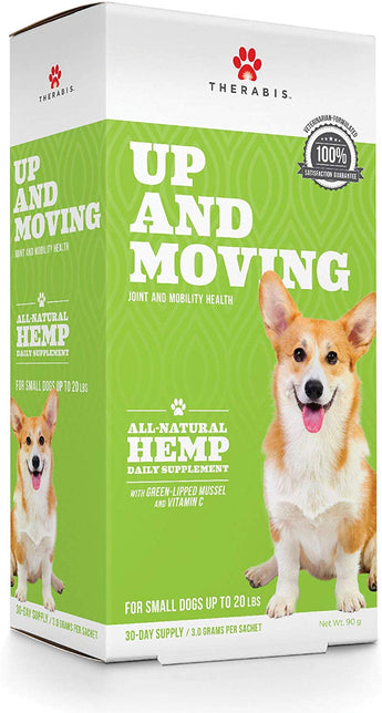 Therabis Up and Moving Broad Spectrum Hemp Joint Health & Support Supplement For Small Dogs Up To 21 LBS