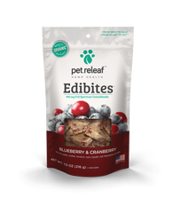 Pet Releaf Large Breed, Blueberry Cranberry CBD Hemp Oil Edibites