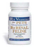Rx Renal Feline 120 capsules by Rx Vitamins for Pets