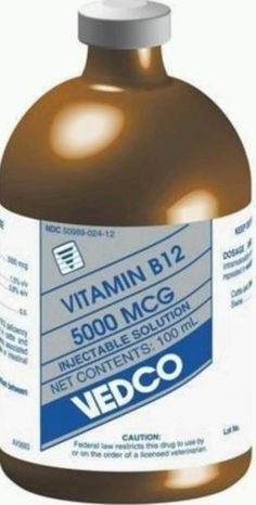 Vedco Vitamin B12 5000mcg/1ml Injection 100 Ml For Veterinary Use