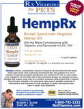 HEMP RX FOR DOGS & CATS 0.83 FL. OZ. 30ML BY RX VITAMINS FOR PETS