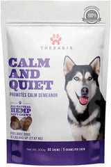 Therabis Calm and Quiet Soft Chews For Large Dogs Over 60 LBS.