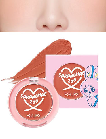 Eglips - Saranghae Zoo Velvet Blusher 04 Sunset Beige