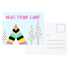 News from Camp Postcard Set - Pink