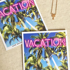 Vacation Mode Palm Tree Necklace