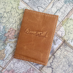 Wanderlust Leather Passport Cover