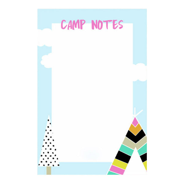 Pink Camp Notes Notepad