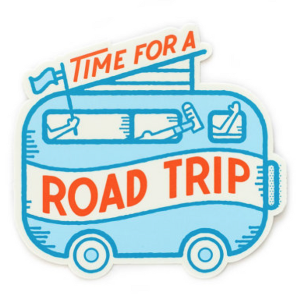 Time for a Road Trip Sticker