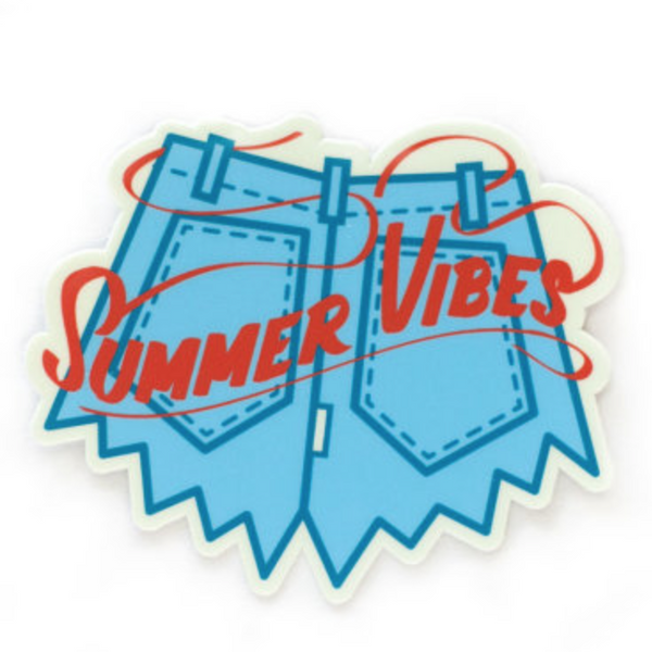 Summer Vibes Vinyl Sticker