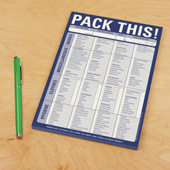 Pack This Notepad