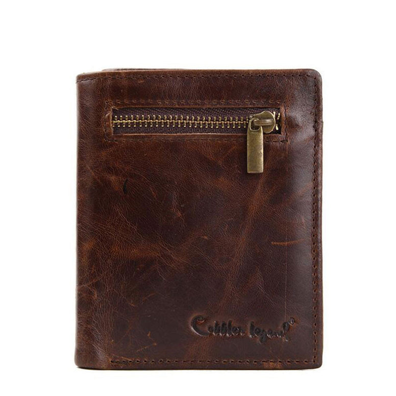 Genuine leather Business Mini Wallet