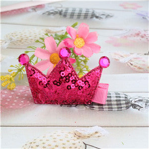 Shiny Tiaras Sequins Hair Clips